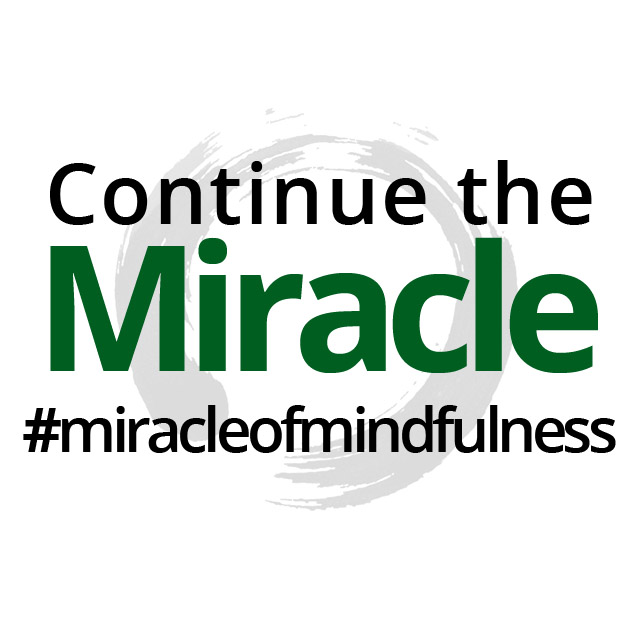 Continue the Miracle of Mindfulness Instagram