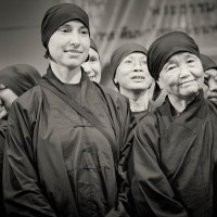 Sister Chan Khong and Nuns